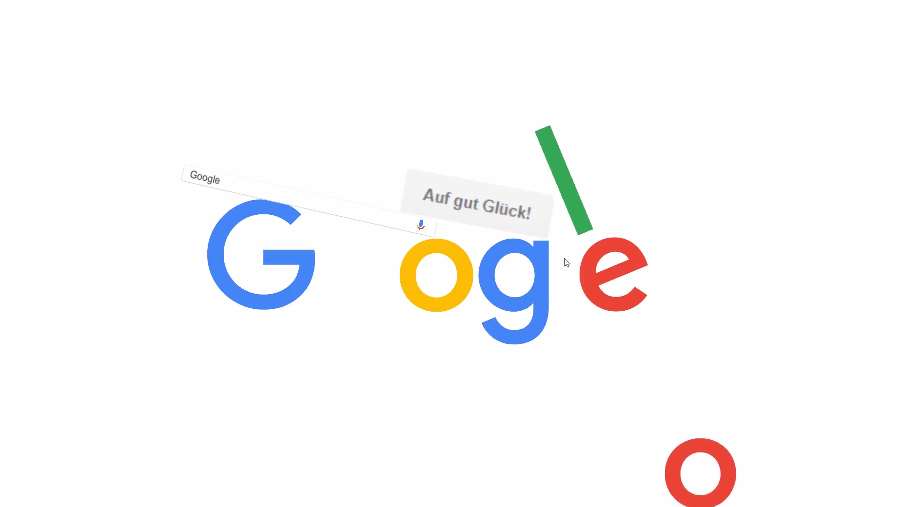 Interactive Google Logo Screenshot